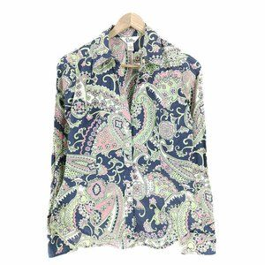 Lilly Pulitzer Button Front Shirt Blouse Women's 4